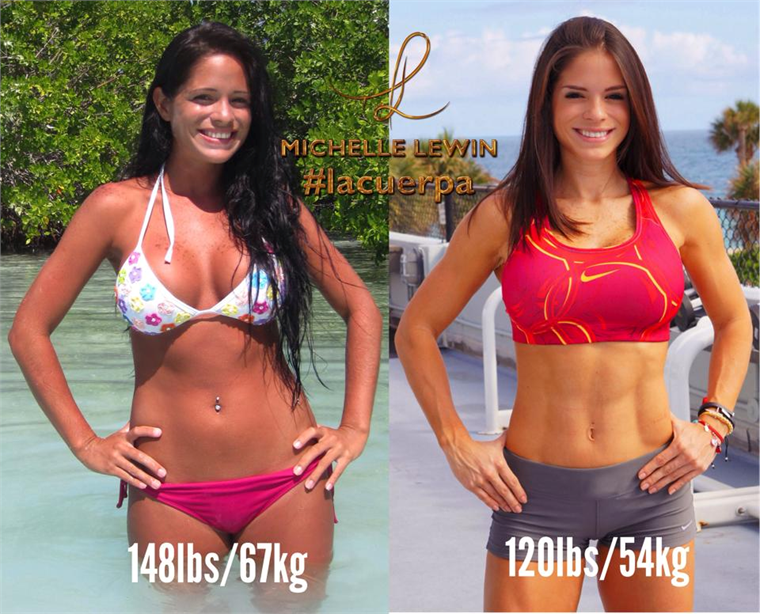 Michelle Lewin Before and After Cheat Meal